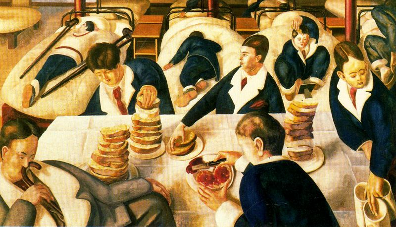 Tea in the Hospital Ward - Stanley Spencer, 1932